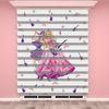 () Dijital Baskılı Kız Çocuk Odası Zebra Perde - PM 001
