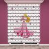 () Dijital Baskılı Kız Çocuk Odası Zebra Perde - PM 002