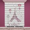 () Dijital Paris Baskılı Zebra Perde - PM 003