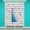 () Frozen Elsa Baskılı Kız Çocuk Odası Zebra Perde - PM 005