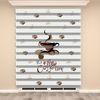 () Dijital Baskılı Zebra Perde (Coffee Time) - PM 009