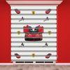 () Kırmızı Araba Baskılı Erkek Çocuk Odası Zebra Perde - PM 013
