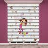 () Niloya Baskılı Kız Çocuk Odası Zebra Perde - PM 015