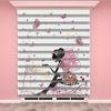 () Peri, Kelebek Baskılı Kız Çocuk Odası Zebra Perde - PM 037