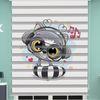 () Dijital Baskılı Bebek Odası Zebra Perde - PM 038