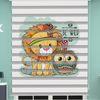 () Aslan Baskılı Bebek Odası Zebra Perde - PM 039