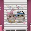 () Baykuş Baskılı İkiz Bebek Odası Zebra Perde - PM 040