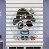 () Korsan Panda Baskılı Erkek Bebek Odası Zebra Perde - PM 042