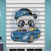 () Dijital Baskılı Erkek Bebek Odası Zebra Perde - PM 043