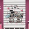 () Sevimli Köpek Baskılı Bebek Odası Zebra Perde - PM 044