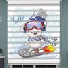 () Kutup Ayısı Baskılı Bebek Odası Zebra Perde - PM 046
