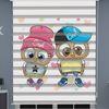() Dijital Baskılı İkiz Bebek Odası Zebra Perde - PM 048