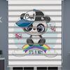 () Panda Baskılı Erkek Bebek Odası Zebra Perde - PM 050