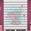 () Sevimli Fil Baskılı Bebek Odası Zebra Perde - PM 051