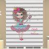 () Prenses Baskılı Kız Çocuk Odası Zebra Perde - PM 052