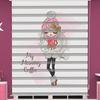 () Dijital Baskılı Kız Çocuk Odası Zebra Perde - PM 053