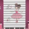 () Balerin Baskılı Kız Çocuk Odası Zebra Perde - PM 055