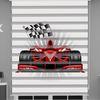 () Formula 1 Baskılı Erkek Çocuk Odası Zebra Perde - PM 056