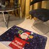 (Çok Renkli) Happy Holidays Yılbaşı Temalı Lateks Kaymaz Taban Kapı Önü Paspası (Ebat 60x90)