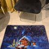 (Çok Renkli) Noel Yılbaşı Temalı Lateks Kaymaz Taban Kapı Önü Paspası (Ebat 60x90)