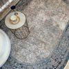 (Mavi) Scout Oval Lateks Taban Su Geçirmez Antialerjik Leke Tutmaz Saçaklı Modern Halı