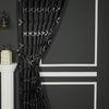 (Siyah) Açelya Fon Perde Beyaz Siyah 20182-2906