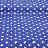 (Mavi) Mavi Yıldız Desenli Duck Keten Kumaş