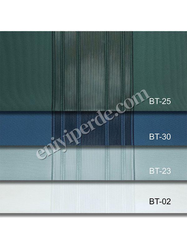 (Yeşil, Mavi) Çizigili Akıllı Dikey Tül Zebra Perde-Çağla Yeşili-Petrol Mavisi-Mint Yeşili-Ekru Fiyatı, Yorumları - Eniyiperde.com - 7