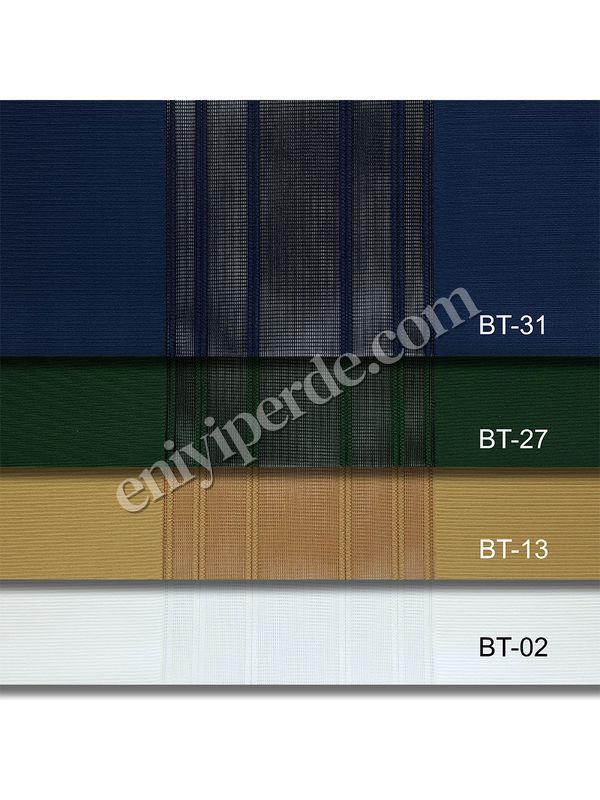 (Yeşil, Mavi) Çizigili Akıllı Dikey Tül Zebra Perde-Parlement-Zümrüt-Hardal-Ekru Fiyatı, Yorumları - Eniyiperde.com - 7