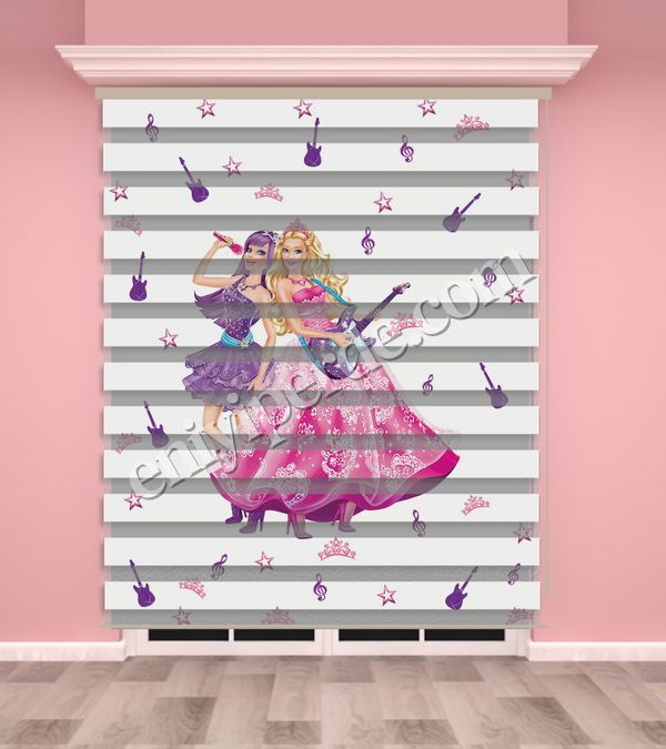 () Dijital Baskılı Kız Çocuk Odası Zebra Perde - PM 001 Fiyatı, Yorumları - Eniyiperde.com - 1