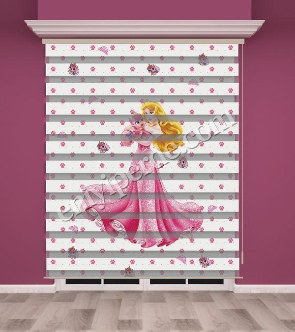 () Dijital Baskılı Kız Çocuk Odası Zebra Perde - PM 002 Fiyatı, Yorumları - Eniyiperde.com - 1