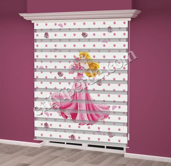 () Dijital Baskılı Kız Çocuk Odası Zebra Perde - PM 002 Fiyatı, Yorumları - Eniyiperde.com - 2