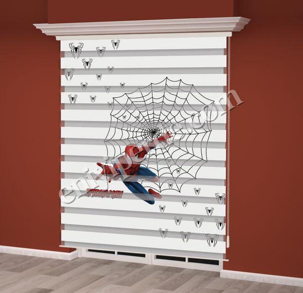 () Örümcek Adam Baskılı Erkek Çocuk Odası Zebra Perde - PM 011 Fiyatı, Yorumları - Eniyiperde.com - 2