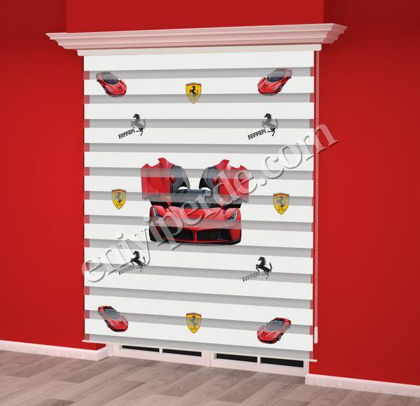 () Kırmızı Araba Baskılı Erkek Çocuk Odası Zebra Perde - PM 013 Fiyatı, Yorumları - Eniyiperde.com - 2