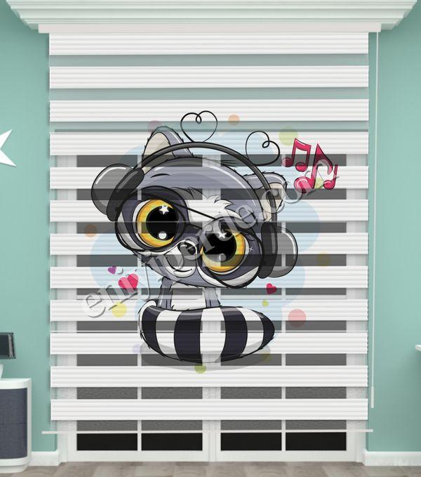 () Dijital Baskılı Bebek Odası Zebra Perde - PM 038 Fiyatı, Yorumları - Eniyiperde.com - 2