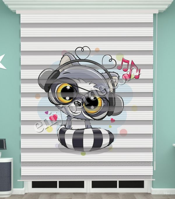 () Dijital Baskılı Bebek Odası Zebra Perde - PM 038 Fiyatı, Yorumları - Eniyiperde.com - 1