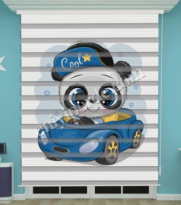 () Dijital Baskılı Erkek Bebek Odası Zebra Perde - PM 043 Fiyatı, Yorumları - Eniyiperde.com - 1
