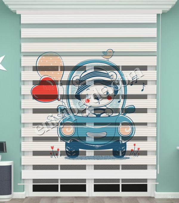 () Oyuncak Ayı Baskılı Bebek Odası Zebra Perde - PM 054 Fiyatı, Yorumları - Eniyiperde.com - 2