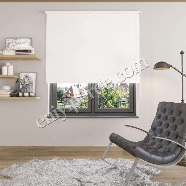 (Beyaz) Beyaz Blackout (Karartma) Stor Perde - 1101 Fiyatı, Yorumları - Eniyiperde.com - 1