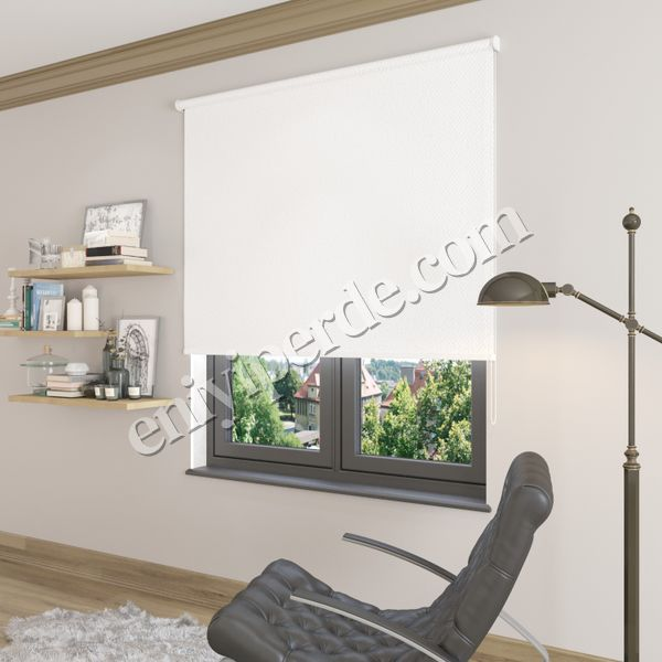 (Beyaz) Beyaz Blackout (Karartma) Stor Perde - 1101 Fiyatı, Yorumları - Eniyiperde.com - 2