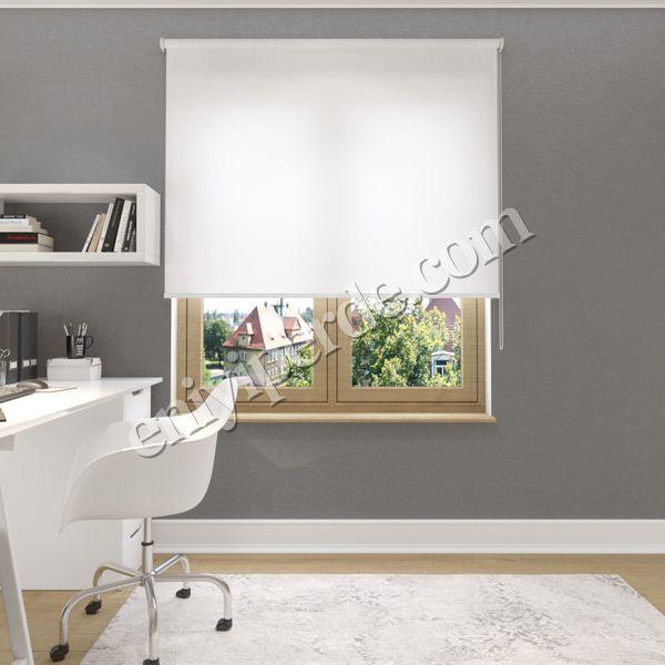 (Beyaz) Sedefli Beyaz Düz Stor Perde - 1501 Fiyatı, Yorumları - Eniyiperde.com - 1