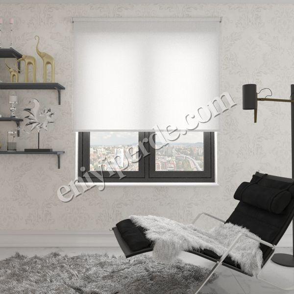 (Beyaz) Panama Beyaz Düz Stor Perde - 2810 Fiyatı, Yorumları - Eniyiperde.com - 1