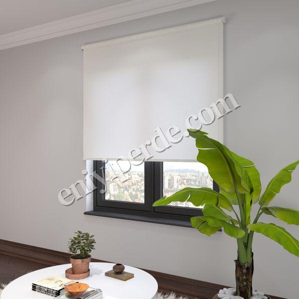 (Ekru) Panama Ekru Düz Stor Perde - 2811 Fiyatı, Yorumları - Eniyiperde.com - 2
