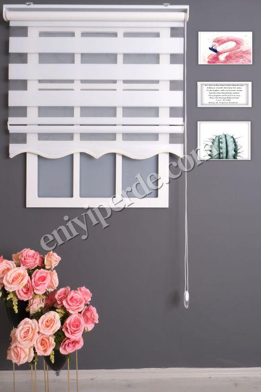 (Beyaz) Ewinas Yeni Sezon Bambu Beyaz Zebra Perde Etek Dilim Hediye bambu01 Fiyatı, Yorumları - Eniyiperde.com - 1