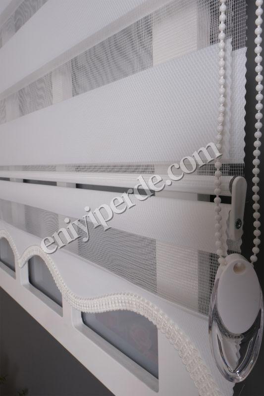 (Beyaz) Ewinas Yeni Sezon Beyaz Bambu Lux Zebra Perde Bambu Lux01 Fiyatı, Yorumları - Eniyiperde.com - 4