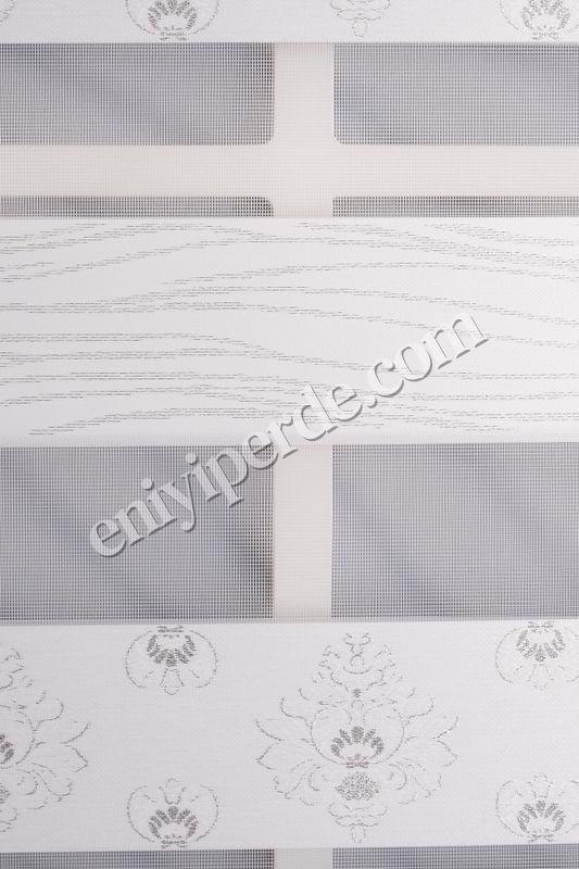 () Ewinas Yeni Sezon Damask Beyaz Gümüş Sim Zebra Perde Damask01 Fiyatı, Yorumları - Eniyiperde.com - 6