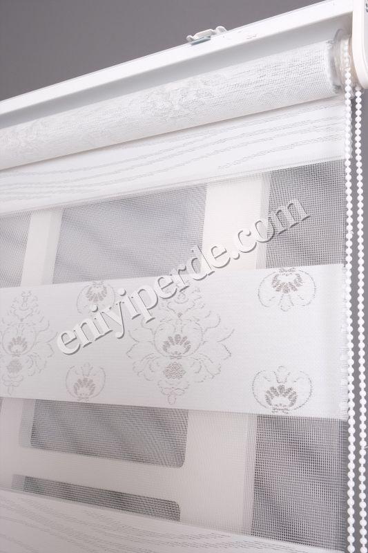 () Ewinas Yeni Sezon Damask Beyaz Gümüş Sim Zebra Perde Damask01 Fiyatı, Yorumları - Eniyiperde.com - 3