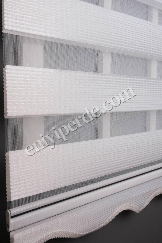 () Ewinas Yeni Sezon Elegan Beyaz Zebra Perde Elegan01 Fiyatı, Yorumları - Eniyiperde.com - 3