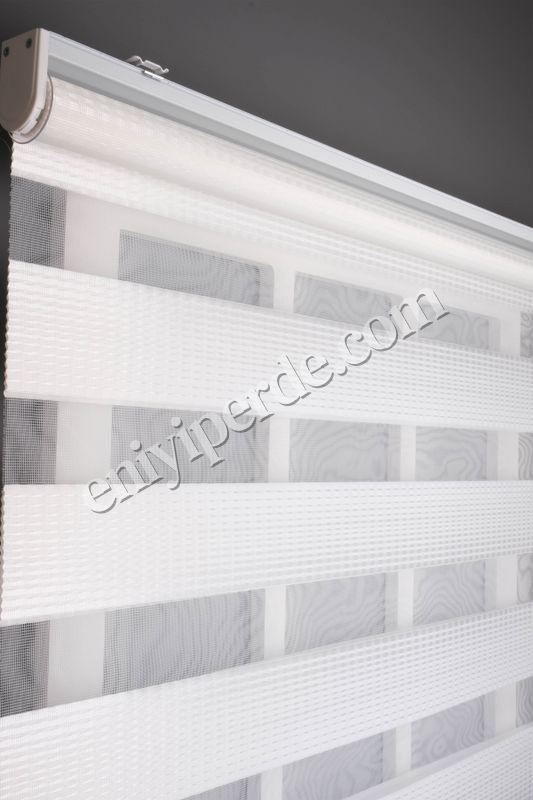 () Ewinas Yeni Sezon Elegan Beyaz Zebra Perde Elegan01 Fiyatı, Yorumları - Eniyiperde.com - 4