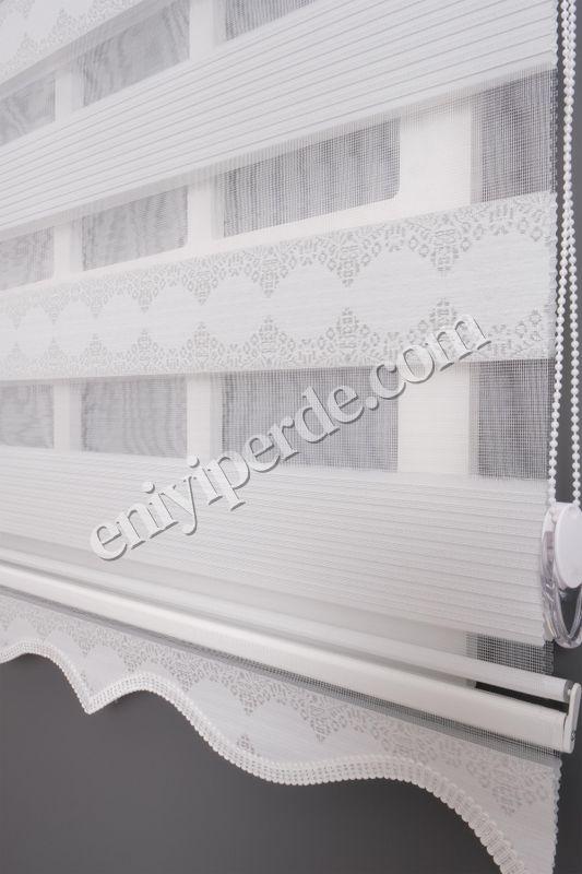 () Ewinas Yeni Sezon Jakar Plise Garden Beyaz Gümüş Sim Zebra Perde Jkrplsgrdn01 Fiyatı, Yorumları - Eniyiperde.com - 3